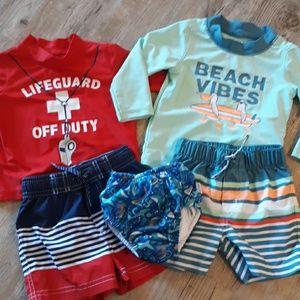 12 Month Baby Boy Swim Bundle